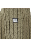 Weekend Offender Mens Green Monzon Cable Jumper