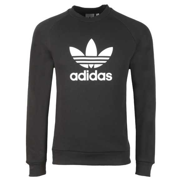 adidas Originals Mens Black Trefoil Crew Sweat main image