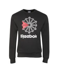 Reebok Mens Black Starcrest Sweatshirt