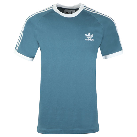 adidas Originals Mens Blue 3 Stripes Tee main image