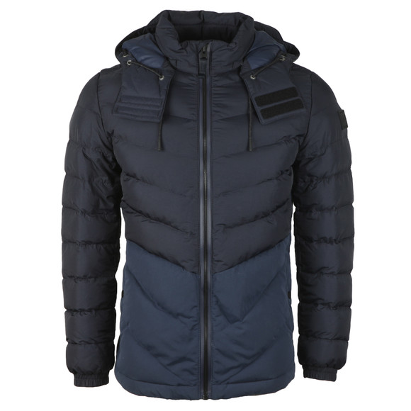 BOSS Casualwear Mens Blue Obrook Padded Jacket main image
