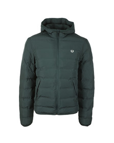 Fred Perry Mens Green Insulated Hooded Brentham