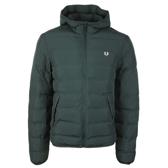 Fred Perry Mens Green Insulated Hooded Brentham main image