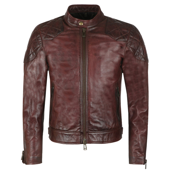 Belstaff Mens Red Outlaw Leather Jacket main image