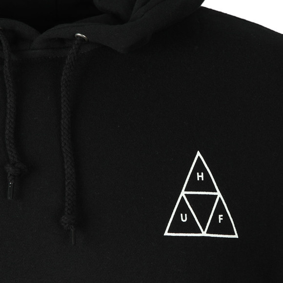 HUF Mens Black Essentials TT Pullover Hoody main image