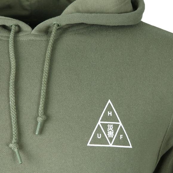 HUF Mens Green Memorial Triangle Pullover Hoody main image