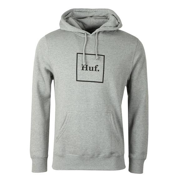 HUF Mens Grey Box Logo Pullover Hoody main image