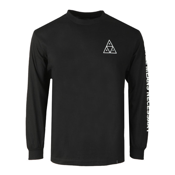 HUF Mens Black Essentials TT Long Sleeve Tee main image
