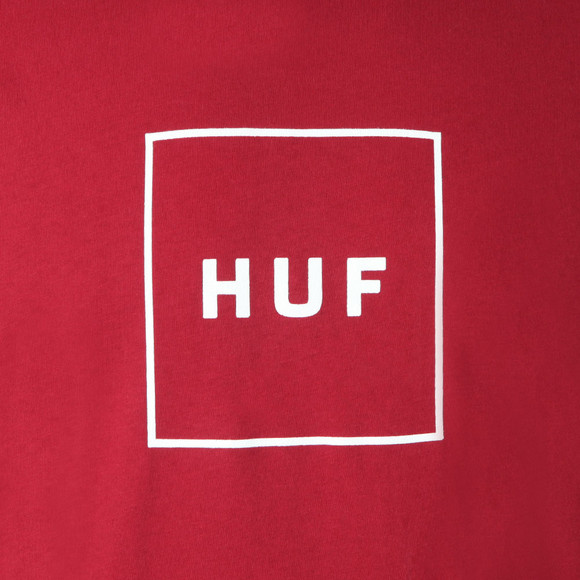 HUF Mens Orange Essentials Box Logo  Tee main image