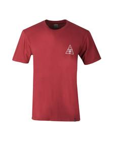 HUF Mens Orange Memorial Triangle T Shirt