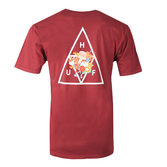 HUF Mens Orange Memorial Triangle T Shirt main image