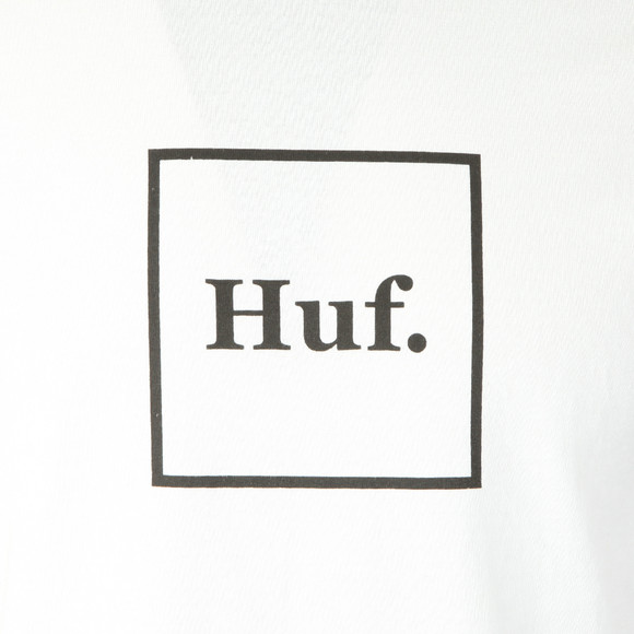 HUF Mens White Domestic Long Sleeve Tee main image
