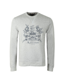 Aquascutum Mens Grey Ali Flock Print Sweat