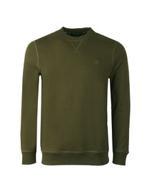 Aquascutum Mens Green Oliver Crew Neck Sweater