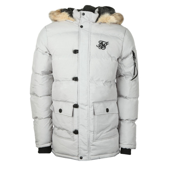Sik Silk Mens Grey Puff Parka main image
