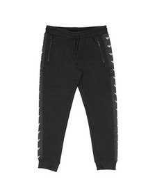 Emporio Armani Mens Black Eagle Taping Jogger