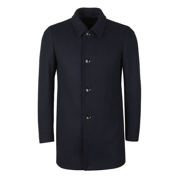 Remus Mens Blue Rowan Overcoat main image