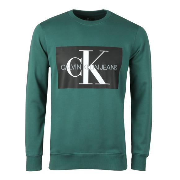 Calvin Klein Jeans Mens Green Monogram Logo Sweat main image