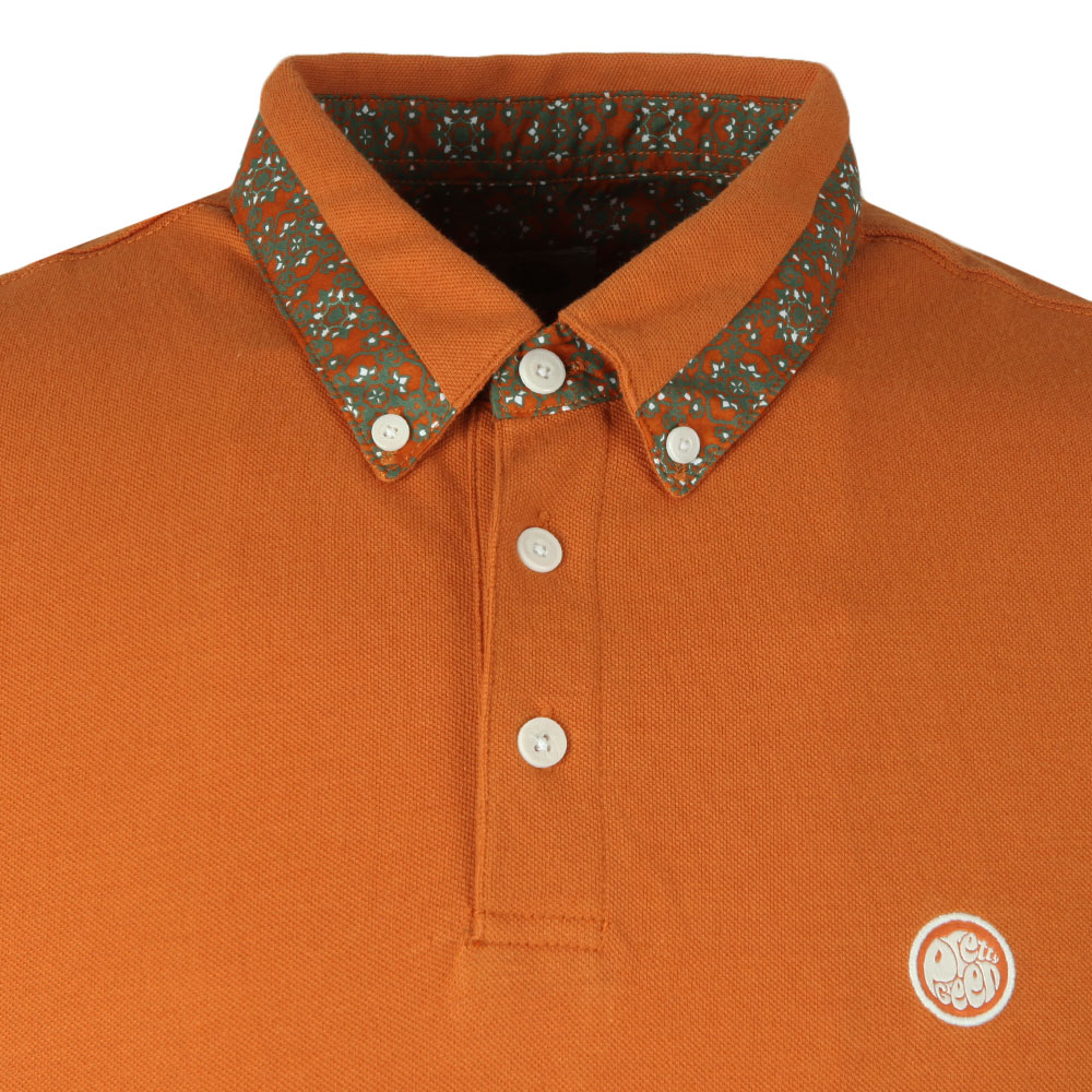 Printed Trim Collar Polo main image