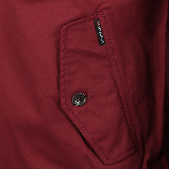 Ben Sherman Mens Red Harrington Jacket main image