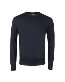 Ben Sherman Mens Blue Merino Crew Neck Jumper