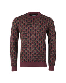 Ben Sherman Mens Red Owl Print Jumper