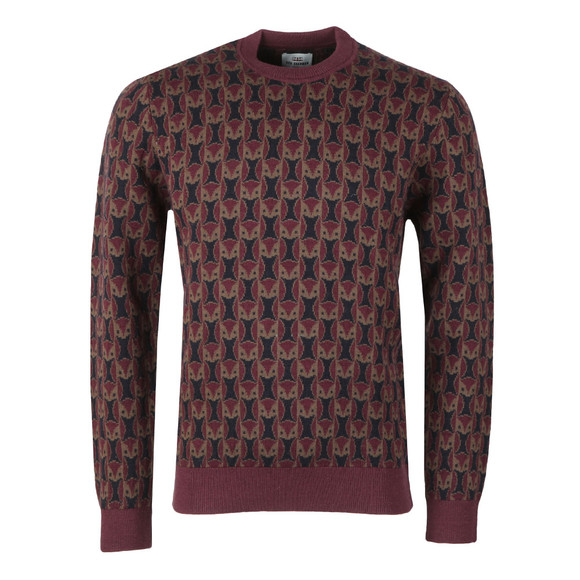 Ben Sherman Mens Red Owl Print Jumper main image