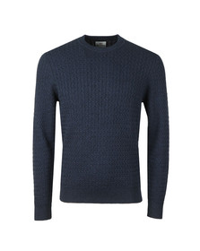 Ben Sherman Mens Blue Mouline Crew Neck Jumper