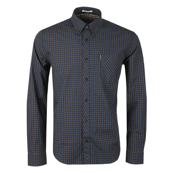 Ben Sherman Mens Brown LS House Check Shirt main image