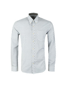 Ben Sherman Mens Off-white LS Distressed Wallpaper Shirt