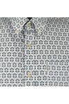 Ben Sherman Mens Off-White LS Distressed Wallpaper Shirt