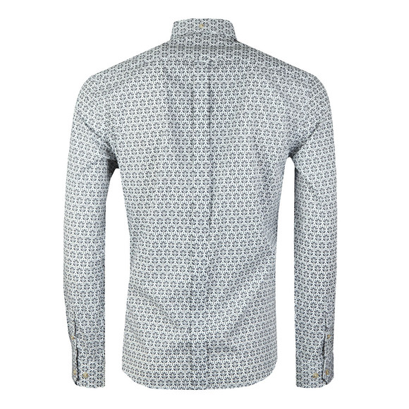 Ben Sherman Mens Off-White LS Distressed Wallpaper Shirt main image