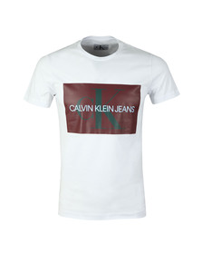 Calvin Klein Jeans Mens White S/S Monogram Box T-Shirt