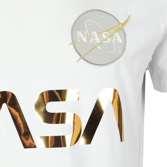 Alpha Industries Mens White NASA Reflective T Shirt main image
