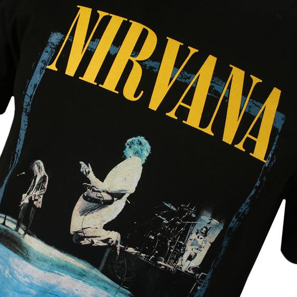 Replay Mens Black Nirvana Print Tee main image