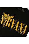 Replay Mens Black S/S Nirvana Print