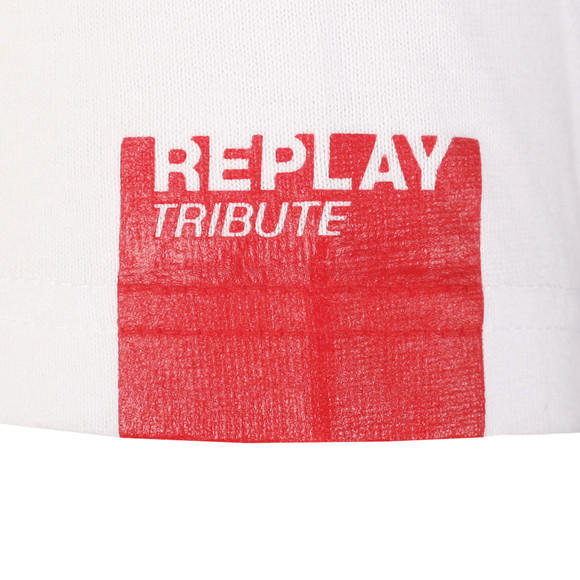 Replay Mens White S/S Nirvana Print Tee main image