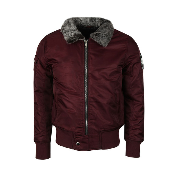 Good For Nothing Mens Red Aviator Jacket main image