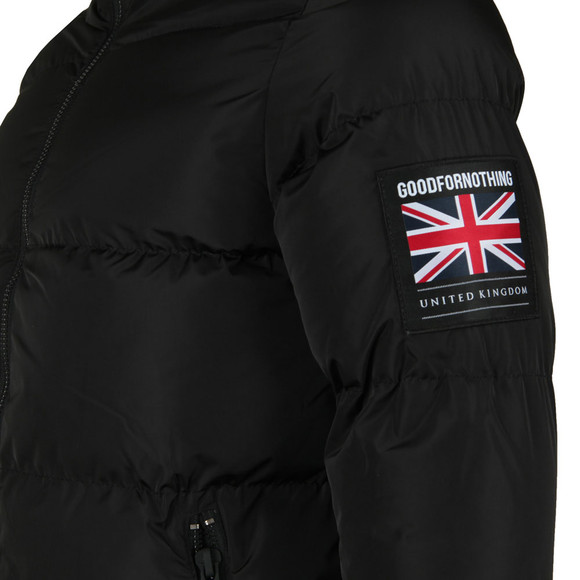 Good For Nothing Mens Black Funnel Neck Puffer Jacket main image
