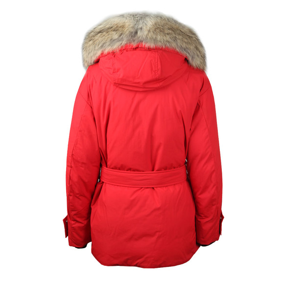 Belstaff Womens Red Dawlby Down With Fur Jacket main image