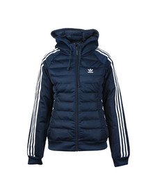 Adidas Originals Womens Blue Slim Puffer Jacket