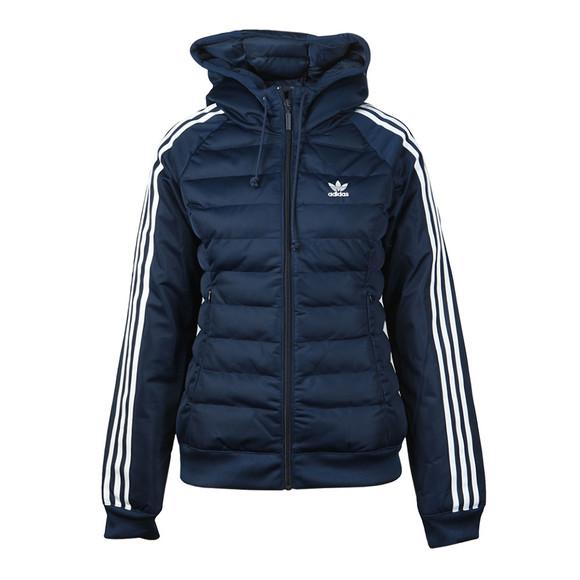 adidas Originals Womens Blue Slim Puffer Jacket main image