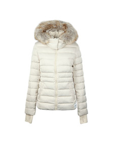 Calvin Klein Jeans Womens Beige Mid Weight Down Nylon Jacket