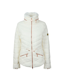 Barbour International Womens White Valencia Quilt Jacket