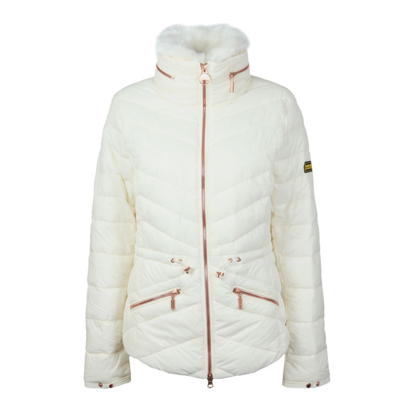 Barbour International Womens White Valencia Quilt Jacket main image