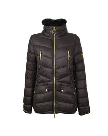 Barbour International Womens Black Autocross Quilted Jacket