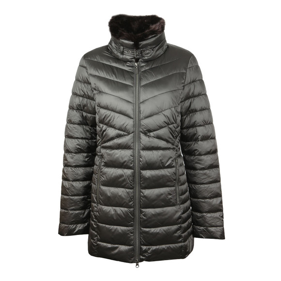 Barbour Lifestyle Womens Grey Lomond Quilted Jacket main image