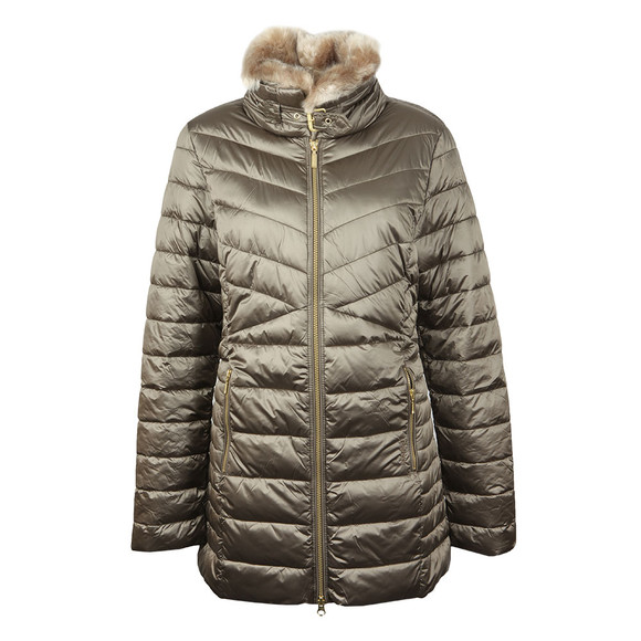 Barbour Lifestyle Womens Beige Lomond Quilted Jacket main image