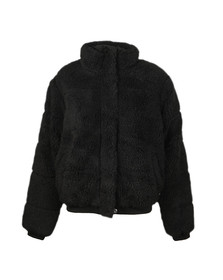 Calvin Klein Jeans Womens Black Polar Fleece Puffer Jacket