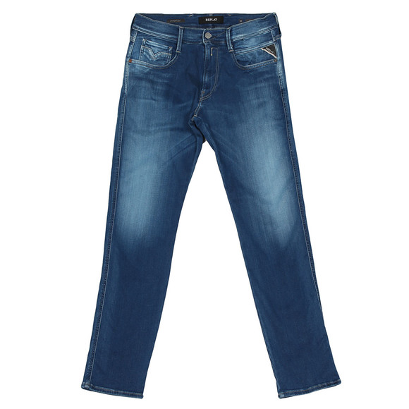 Replay Mens Blue Hyperflex Stretch Jean